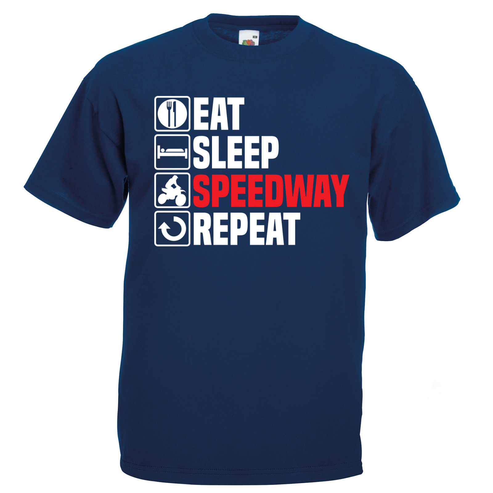Eat Sleep Speedway T Shirt Biker Motorbike Racinger Fathers Day Birthday Gift 100% Cotton Fashion T-Shirts Top Tee