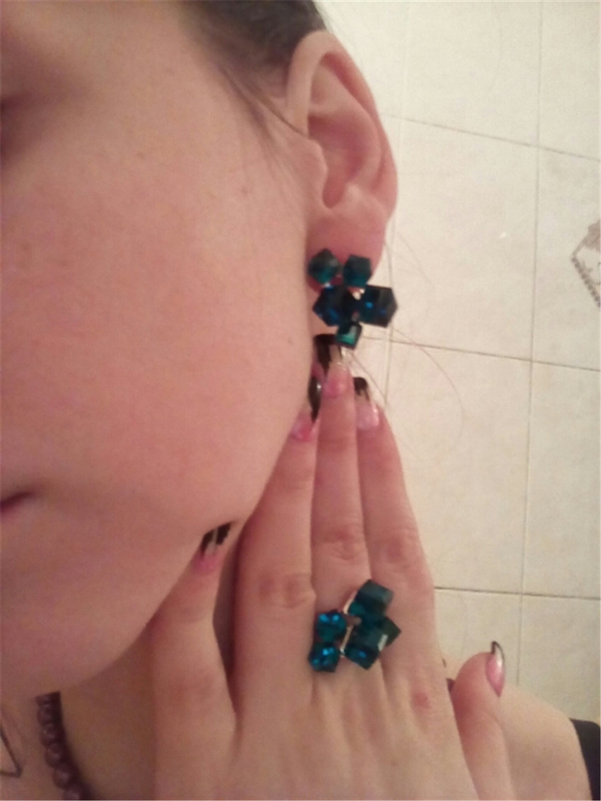 """Woemn Fashion AAA 5X8MM magnifique 19/"""" @ 3 rangées Abacus Turquoise Perle Collier 17/"""""""