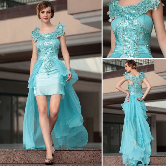 Party queen blue hi lo tulle cocktail dresses 30661 Free Shipping by ...