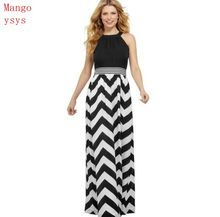 mango ysys Women 2018 Spring Summer striped Print Long Floor-Length dresses  s-xl e6ffa563a0a3