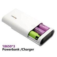Soshine E5 Display Inteligente Portátil DIY Caixa De Banco De Potência 3 Slot 18650 5V2A Carregador de Bateria Powerbank Para iphone Huawei LG