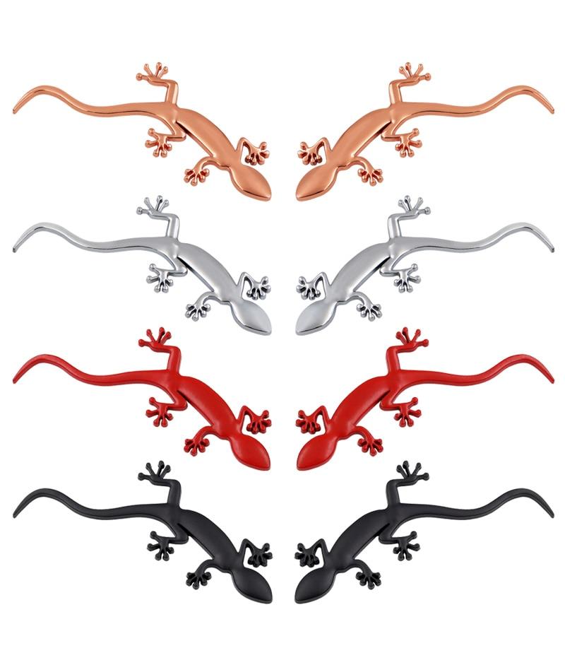 Car Stickers 2017 Fashion Gecko Lizard Quattero 3D Metal Car Auto Motorcycle Logo Emblem Badge Car Styling Stickers Automobiles soarhorse car styling 3d metal emblem car body side stickers fit for camaro corvette colorado licensed badge logo