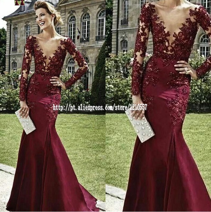 Plunging Neckline Evening Dress