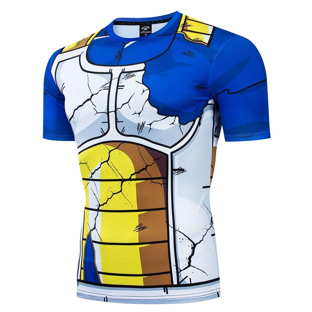 Creative Design Dragon Ball Corselet T Shirt For Men Dragon Ball Vegeta Goku Super Saiyan Fitness Underwear