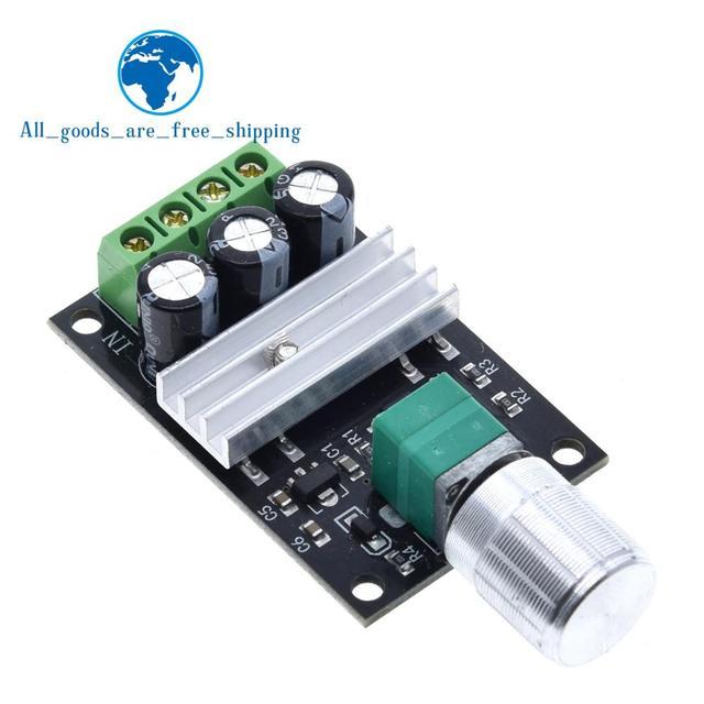 TZT  DC 6V 12V 24V 28VDC 3A 80W PWM Motor Speed Controller Regulator Adjustable  3A Motor Speed Controller Regulator