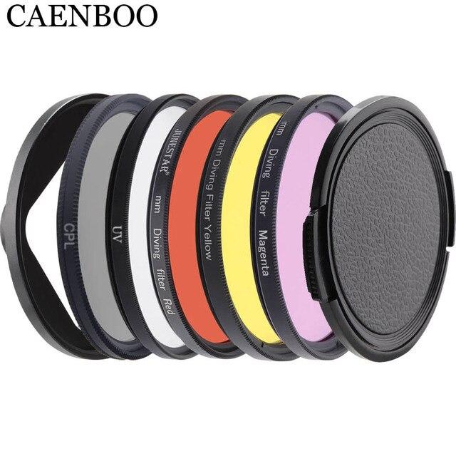 Фильтр объектива CAENBOO для XiaoMi Yi 4K/II/Lite/+, цветной CPL UV красный фильтр Yi 4K, водонепроницаемый корпус 52 мм, аксессуары для дайвинга