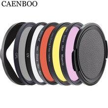 CAENBOO filtro de lente para XiaoMi Yi 4K/II/Lite/Plus Color CPL UV Red Filter Yi 4K carcasa impermeable carcasa 52mm accesorios de buceo