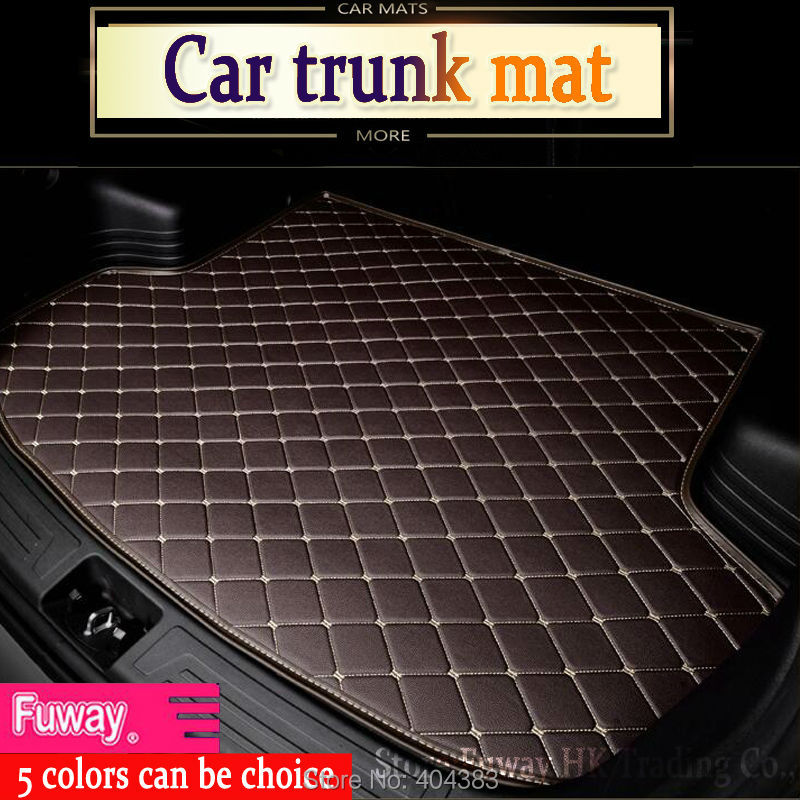 Accessories fit car trunk mat for Peugeot 206 207 2008 301 307 308sw 3008 408 4008 508 rcz car styling tray carpet cargo liner 3d trunk mat for peugeot 508 waterproof car protector carpet auto floor mats keep clean interior accessories