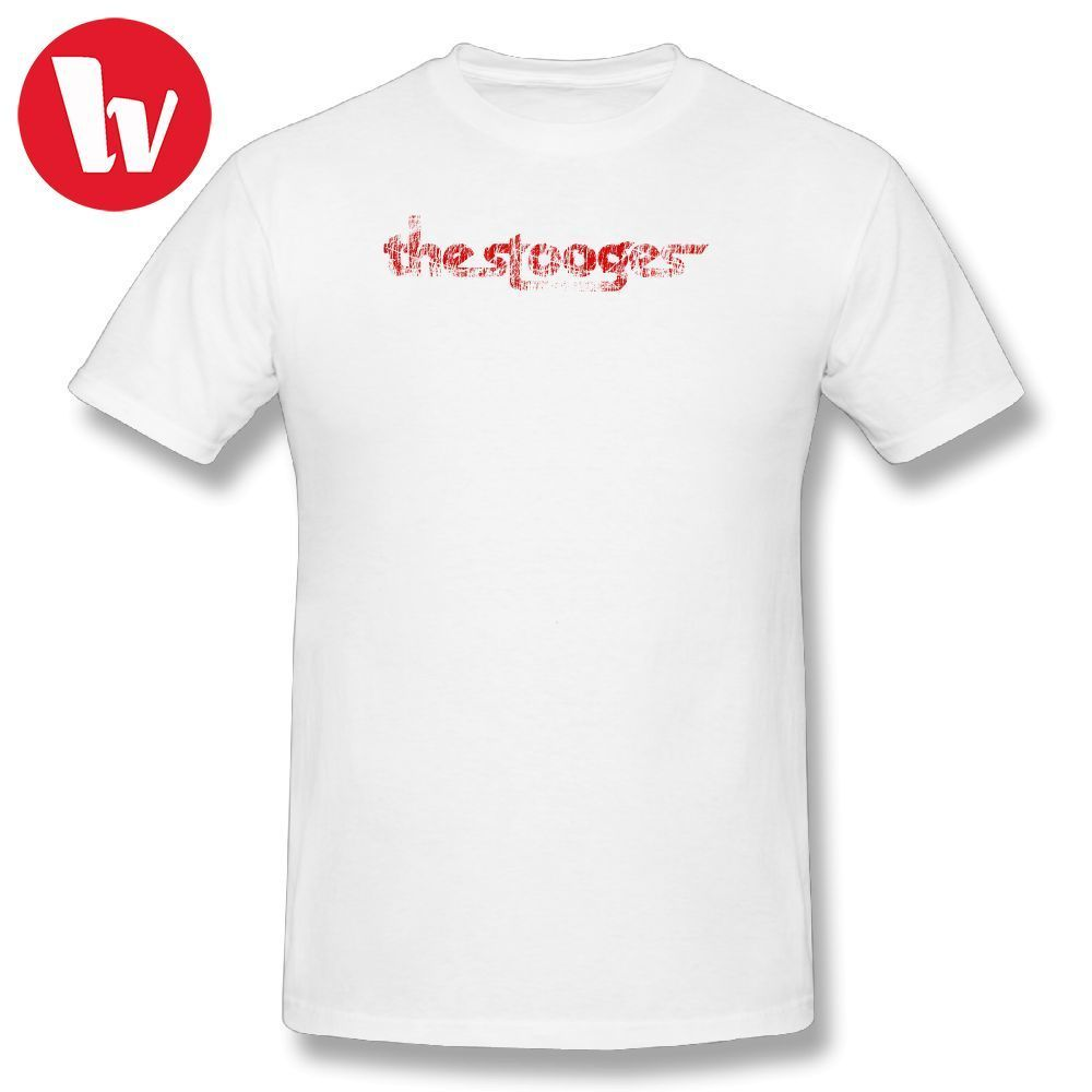 5a6f2d7fe3b0ef Iggy Pop Shirt T-Shirt Men Print The Stooges distressed (red) T Shirts Funny  Cotton T Shirt Awesome Summer Casual Tee Shirt