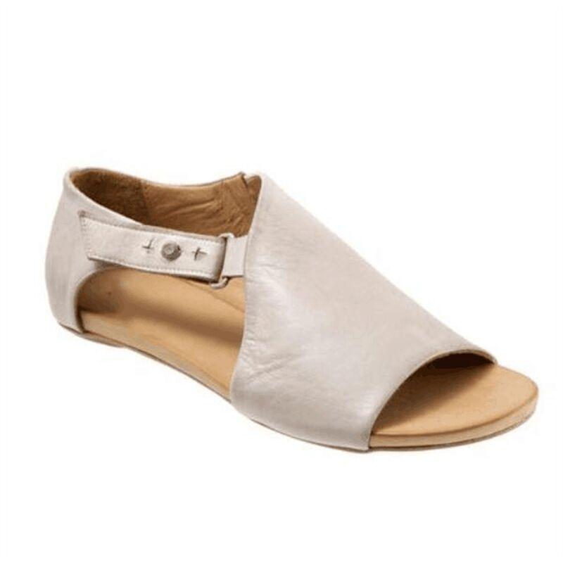 2019 Summer Women Sandals Flip Flops Flats Female Casual Peep Toe Shoes Woman Buckle Leather Leisure Sandles Footwear Size 35-43