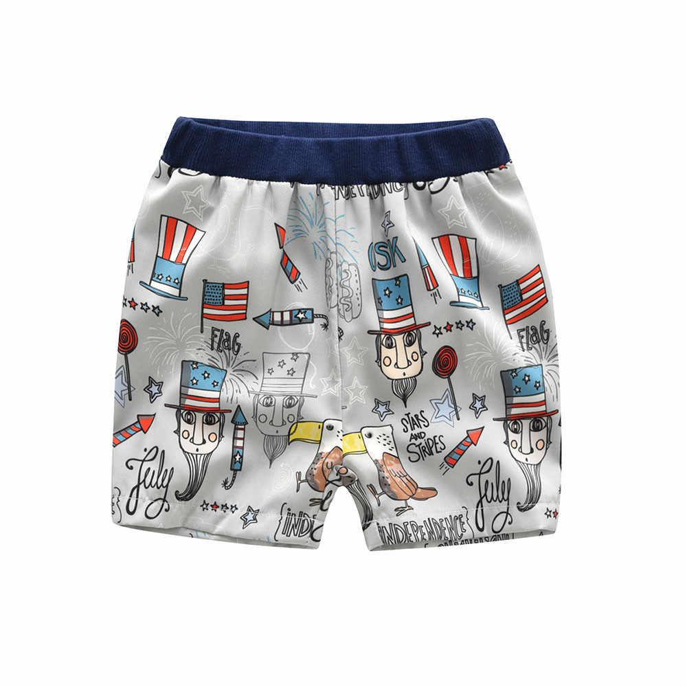 ARLONEET recién nacido Ropa Deportiva Conjuntos Bebé niños niñas 4 de Julio chaleco Tops + Pantalones cortos trajes 1 a 5 años de envío 30S510