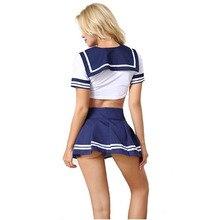 BOHOWAII Cheerleader Costume Schoolgirl Lingerie Dirndl School Girl Sexy Costumes Women Cosplay Halloween Disfraz Mujer Sexi