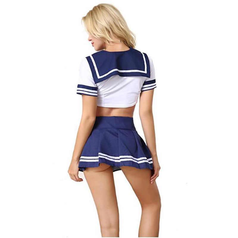BOHOWAII костюм чирлидерши белье в стиле школьницы дирндль школьница сексуальный женский костюм для косплея Хэллоуин disfraz Mujer Sexi
