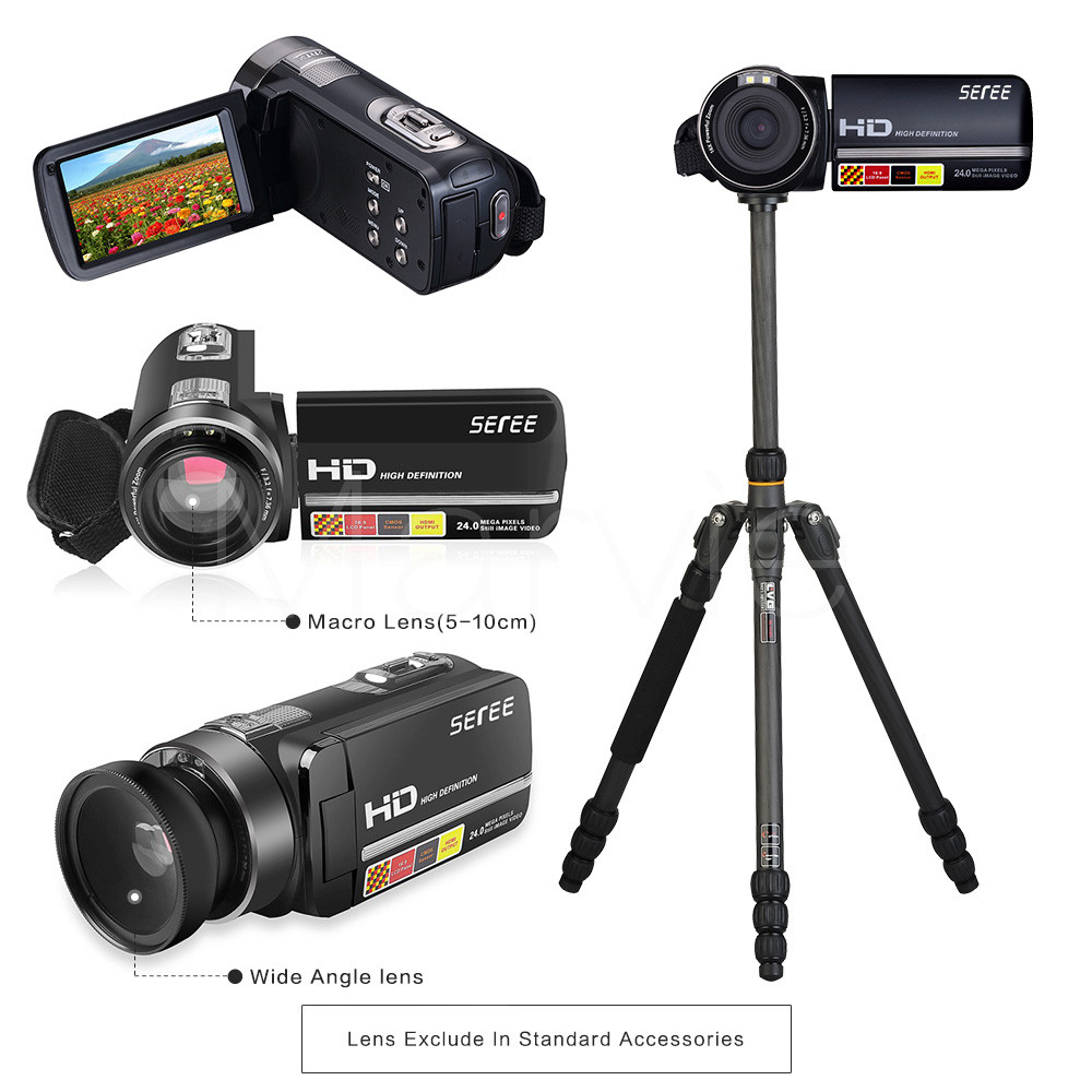 Seree 17 Latest HDV-301 Portable Camcorder Full HD 1080P 16x Digital Zoom Digital Video Camera Recorder DVR 7