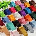 Nova Mens Fashion Elegante 5 cm Magro Cor Sólida Gravata Gravata 35 Cores Que Você Escolher As Cores Frete Grátis LD01