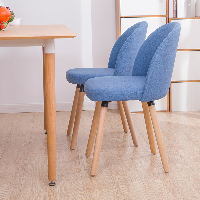 Solid Wood Furniture Restaurant Applicable To Chairs Nordic Casual Fabric Situ To The Back of The Minimalist Meeting Chair