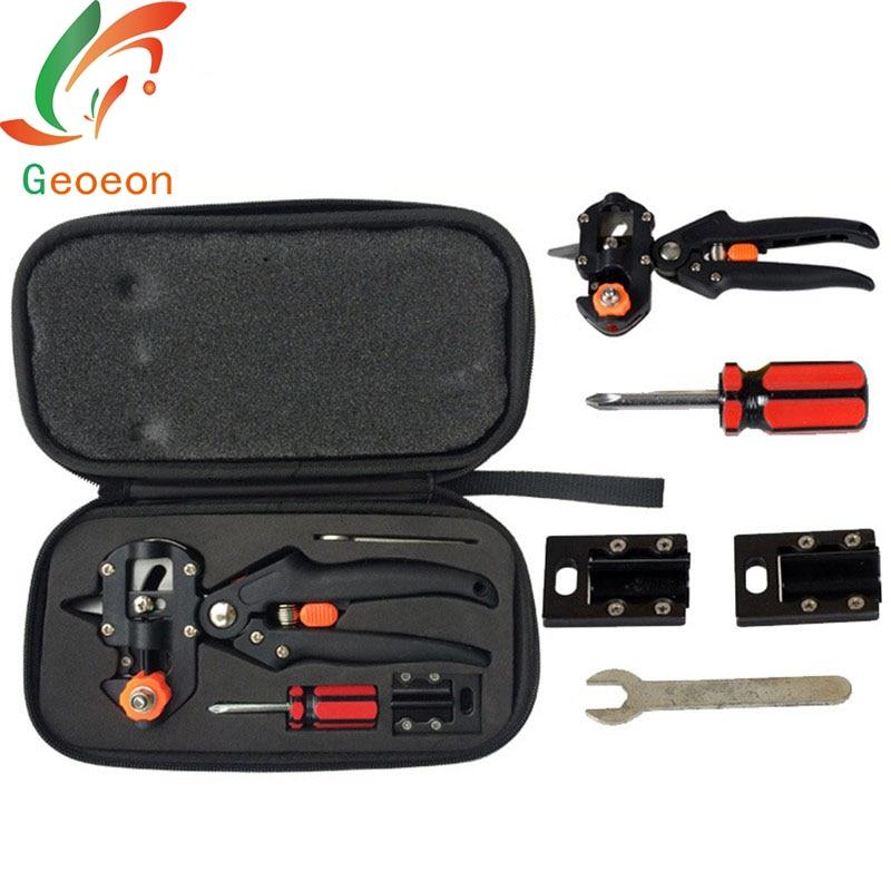 Geoeon Cloth Boxes Grafting Shears Garden Fruit Tree Pruning Pruning Shears Garden Grafting Scissors Tool set A9