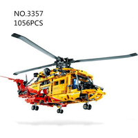 decool 3357 1056pcs Technology Series Rescue helicopter Building brocks bricks baby toys gift children education model