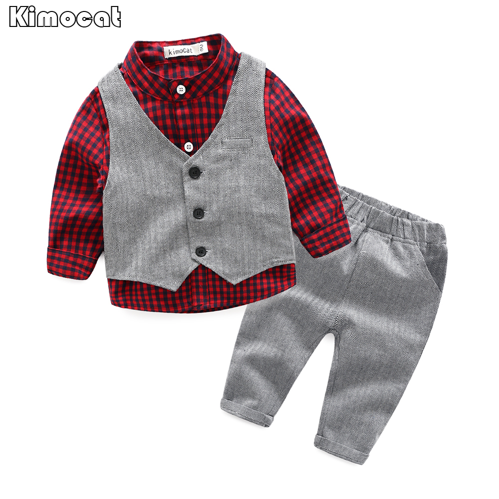 Baby Boy Clothes Sets Gentleman Suit Toddler Boys Clothing