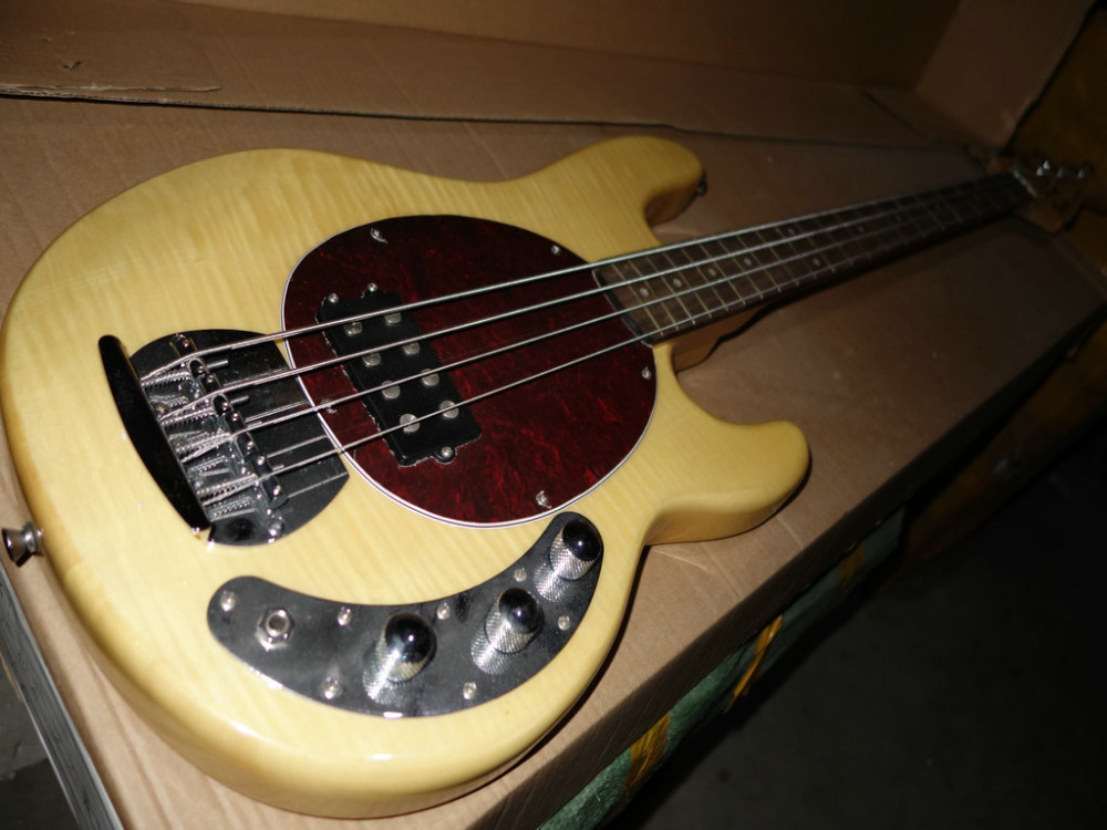 stock 4 strings bass natural color electric bass guitar old guitars sell cheap free shipping. Black Bedroom Furniture Sets. Home Design Ideas