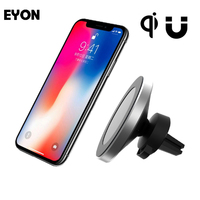 EYON 360 Qi Wireless Car Charger Holder Magnetic Air Vent Mount Dock for iPhone X SAMSUNG Galaxy S8 S8 Plus S6 S7 Edge+ Note 5 8