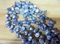 One Strands Real Pearl Bead 10mm Light Blue Colors Baroque Pearl Natural Freshwater Pearl loose beads 35cm / 15inch