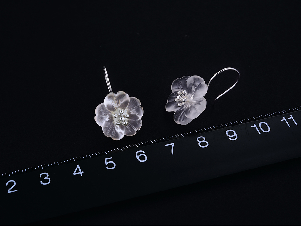 HTB1.CDUwTdYBeNkSmLyq6xfnVXaj - Lotus Fun Real 925 Sterling Silver Earrings Handmade Designer Fine Jewelry Flower in the Rain Fashion Dangle Earrings for Women