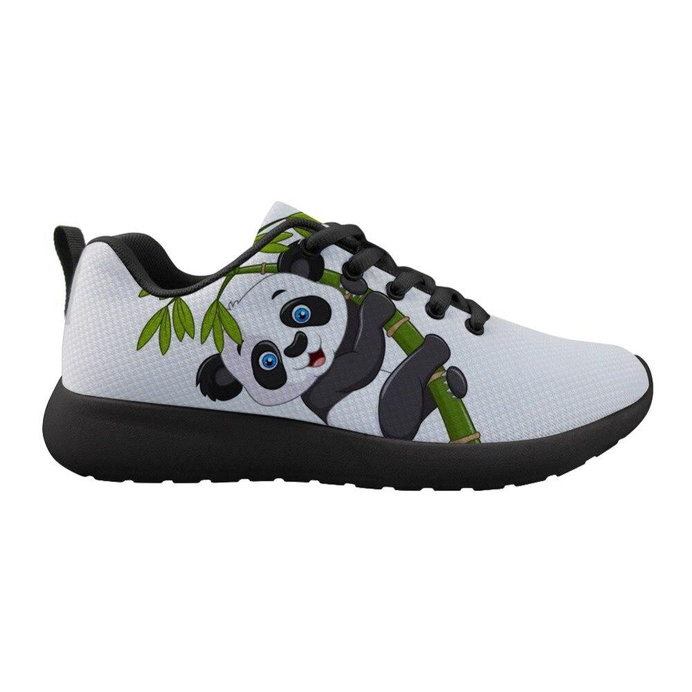 US $28.49 25% OFF|ELVISWORDS Cute Panda Sneaker Shoes Animal Print Casual Fashion Flat Shoes Outdoor Walking Sapato Men Boy in Women's Flats from