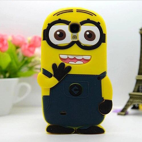 Для Samsung Galaxy S4 i9500 Милые 3D мультфильм мягкая резина силиконовые Гадкий я Миньоны чехол дешевый Интимные аксессуары желтый