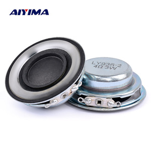 AIYIMA 2Pcs 40MM Portable Audio Speakers 4Ohm 3W Full Range Speaker Driver 19 Core PU Side Loudspeaker DIY Sound Home Theater