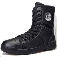 2016 Winter Black Canvas Boots Special Tactical Combat Boots
