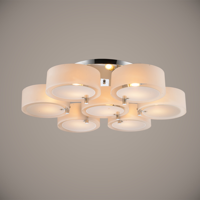 Modern Contemporary Ceiling Lights: Ecolight Modern Ceiling Light 7 Lights E26 E27 Brushed