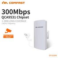 COMFAST Wifi Ponte 2.4 ghz 300 mbps Roteador Wi-fi Repetidor AP CPE Ao Ar Livre Para A Câmera Ip Projeto 1-2 km Extensor Receptor de Longo Alcance