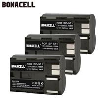 цена Bonacell 2200mAh BP-511 BP-511A BP 511A for Camera Battery BP511 BP 511 For Canon EOS 40D 300D 5D 20D 30D 50D 10D G6 L10