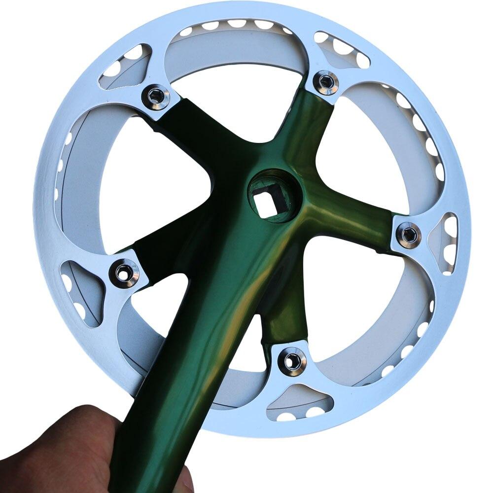 Fixed gear Single Speed Track Cranks Crankset 165mm 42t Black//Gold