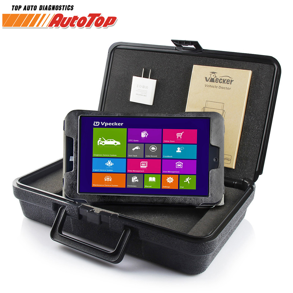2018 Vpecker Easydiag OBD2 Autoscanner V10.6 WIFI Automotive Scanner + 8 in Windows 10 Tablet ODB 2 OBD Auto Diagnose Scanner