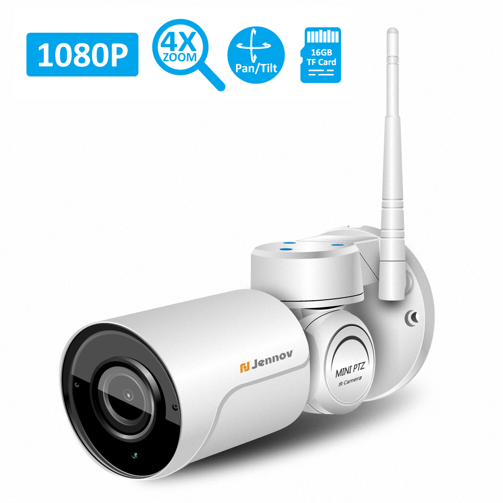 PTZ Wifi 1080 p 960 p Full HD 2.8-12mm Lentille 4X Zoom IP Caméra CCTV Sécurité Extérieure vidéo Surveillance Audio Email Alarme Led Lumière