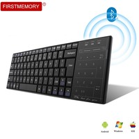 Bluetooth 3.0 Wireless Keyboard Multimedia Touch Pad With Mouse Mode BT 3.0 Keypad Rechargeable For PC Windows Mac/iOS Android