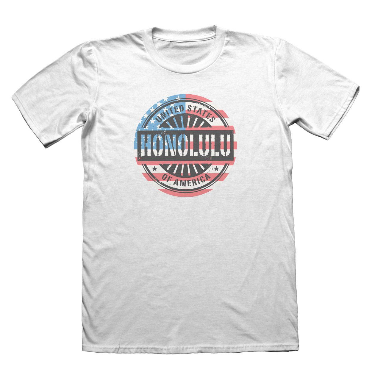 Honolulu Hawaii USA T-Shirt - Mens Fathers Day Christmas Popular Style Man T Shirt Top Tee New 2018 Fashion Hot