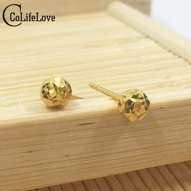 18k Gold Stud Earrings Petal Diamond And Aquamarine Stud ...