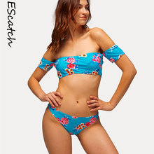 Escatch Swimwear Women 2018 Off Shoulder Bikini Sexy Beach Swimsuit Bathing Suit Brazilian Bikini Maillot De Bain For Women
