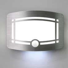 Wireless Motion Sensor Activated LED Wall Night Light Battery Operated Stick-Anywhere Wall lamp for Bedroom Hallway Closet Stair все цены