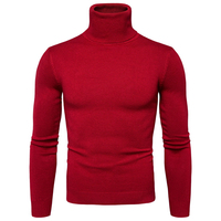 Famous Brand Stylish Mens Sweater Turtleneck Slim Fit Knitting Mens Sweaters Pullovers European Appear Men Polo Sweaters S569