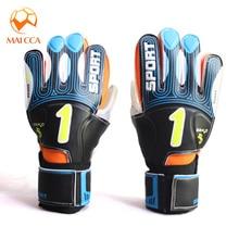 MAICCA профессиональные детские вратарские перчатки для взрослых, футбольные толстые латексные защитные перчатки для пальцев, футбольные вратарские перчатки