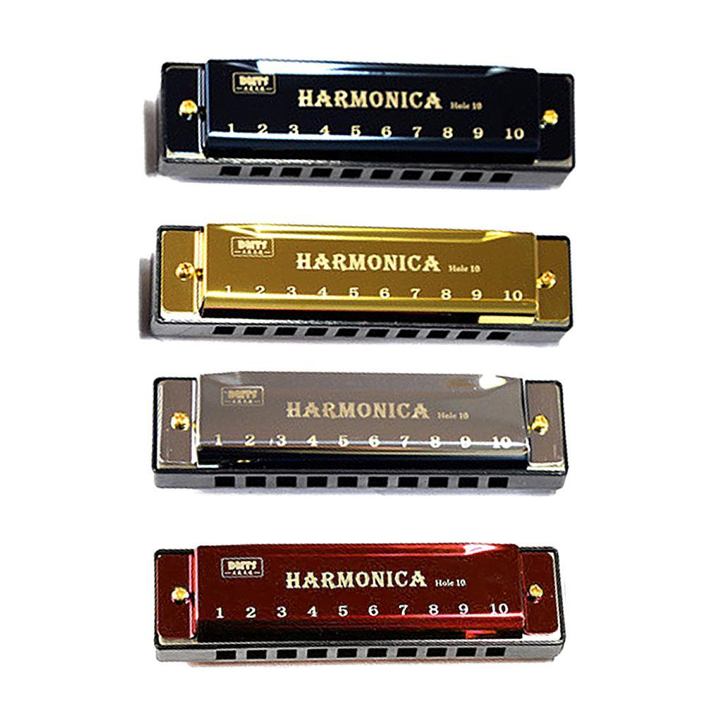 Titanium Copper Core Harmonica C Key 10 Holes 20 Tones Blues Harmonica Perfect For Beginners Professional Students Kids