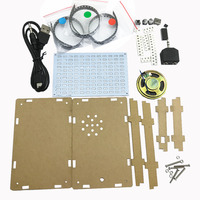 LED Music Spectrum Display Production Making Kit Led Flashing Lights DIY Kit With Case