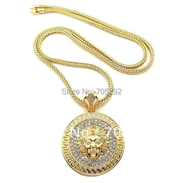 New iced out bling pendants with franco chain hip hop necklace in new iced out bling pendants with franco chain hip hop necklace aloadofball Images