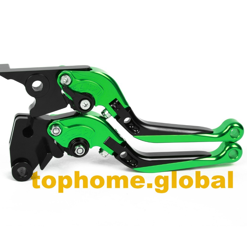 Motorcycle Accessories CNC Folding&Extending Brake Clutch Levers For Kawasaki ZX6R 1995-1999 1996 1997 1998