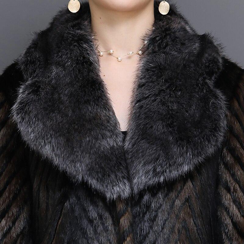 Manteau Taille And Vison Furry Manches Fourrure 5xl Femmes Hiver De Mode Faux Plus Nerazzurri Fourrure Longues À White 2018 black Black Chaud Coffee La Fluffy 6xl UBxEqCAw