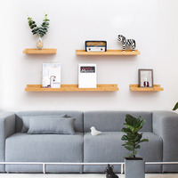 Actionclub Home Decor Wall Storage Shelf DIY Wood Storage Shelf Kids Room Wall Decoration Creative Wall Phone Shelf 1 PC